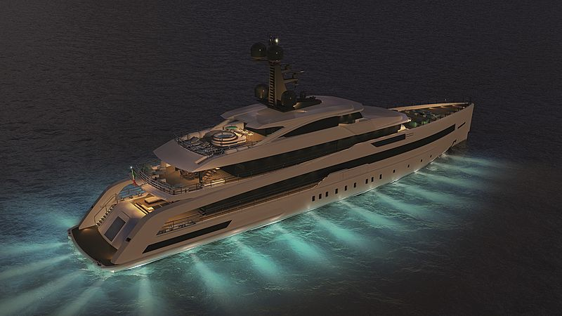 CRN 138 yacht exterior rendering