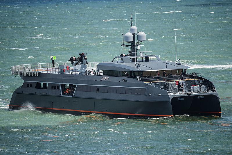Hodor yacht arriving in Fort Lauderdale