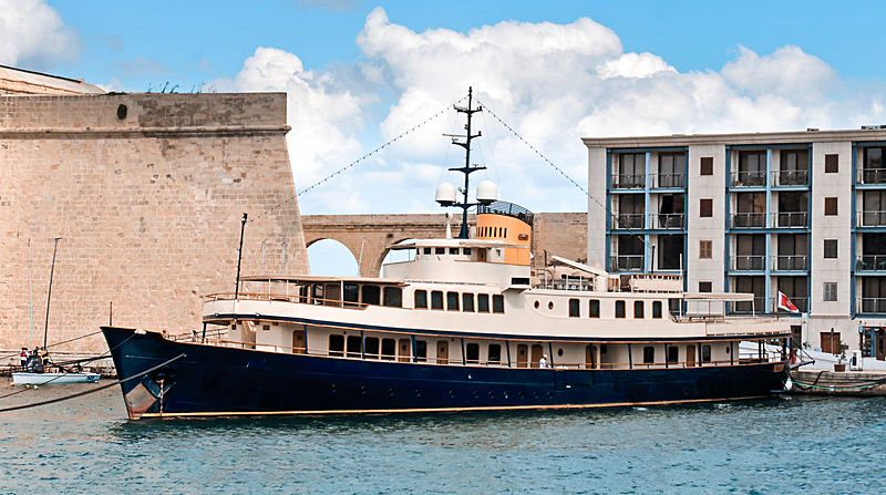Seagull II yacht in Grand Harbour, Malta