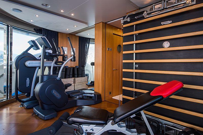 Quite Essential yacht gym