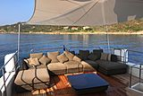 Panthours yacht aft deck