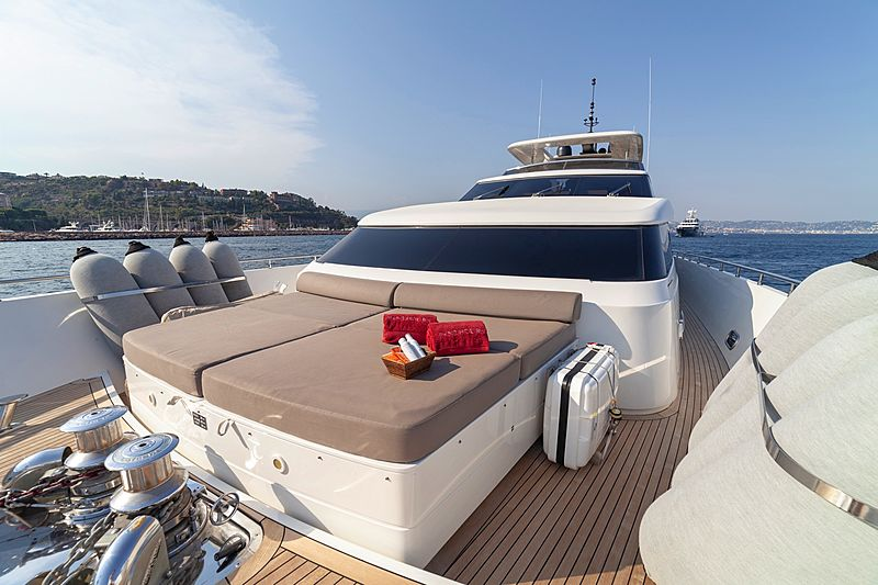 Panthours yacht foredeck