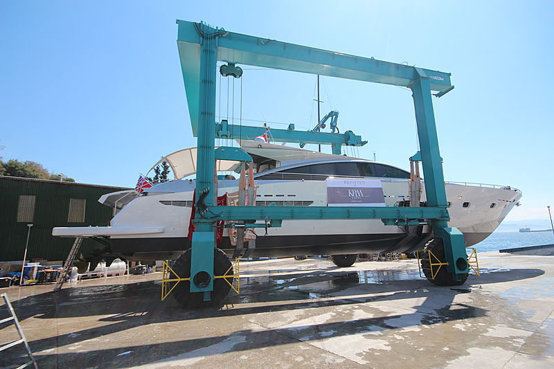 Shenu yacht under refit
