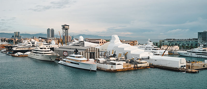 Superyachts at MB92 Barcelona