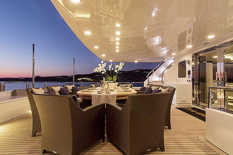 Invader yacht aft deck