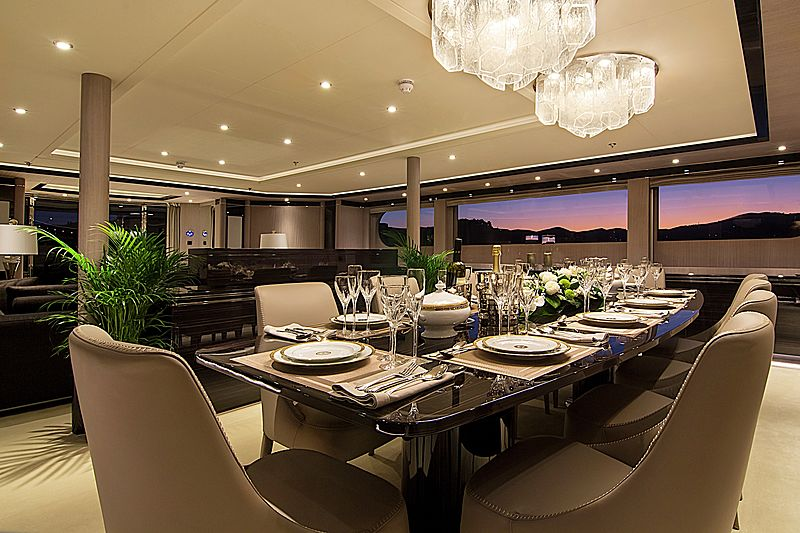 Invader yacht dining table