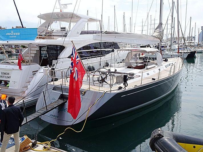 Elise Whisper yacht in Barcelona