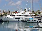 Perle Bleue yacht in Barcelona