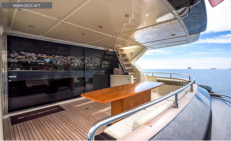 Eva Sofia yacht aft deck