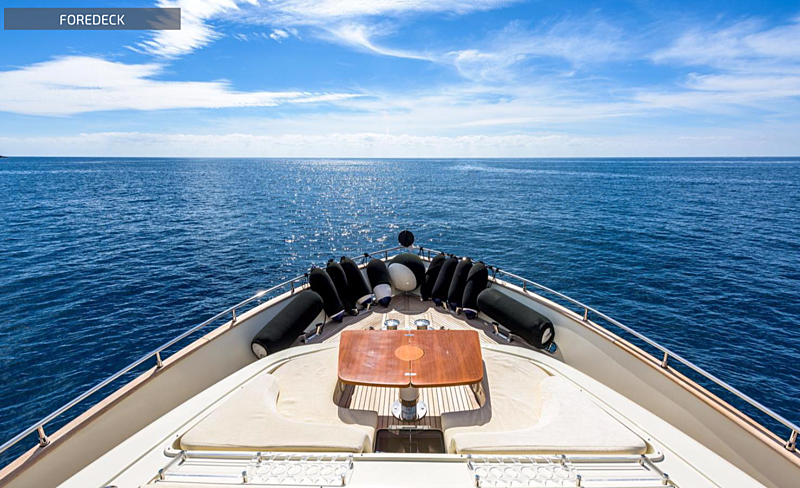 Eva Sofia yacht foredeck