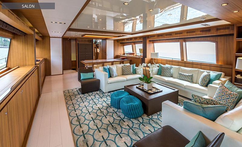 Eva Sofia yacht saloon