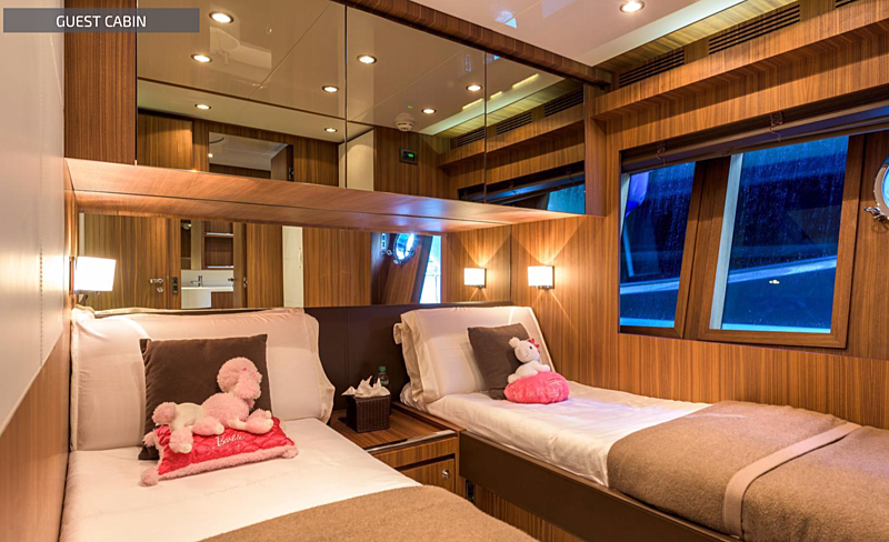 Eva Sofia yacht stateroom
