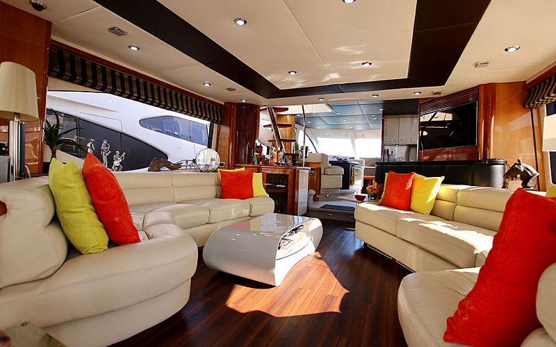 Moonraker yacht saloon