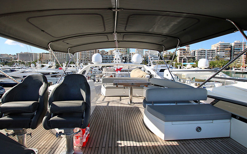 Moonraker yacht sundeck