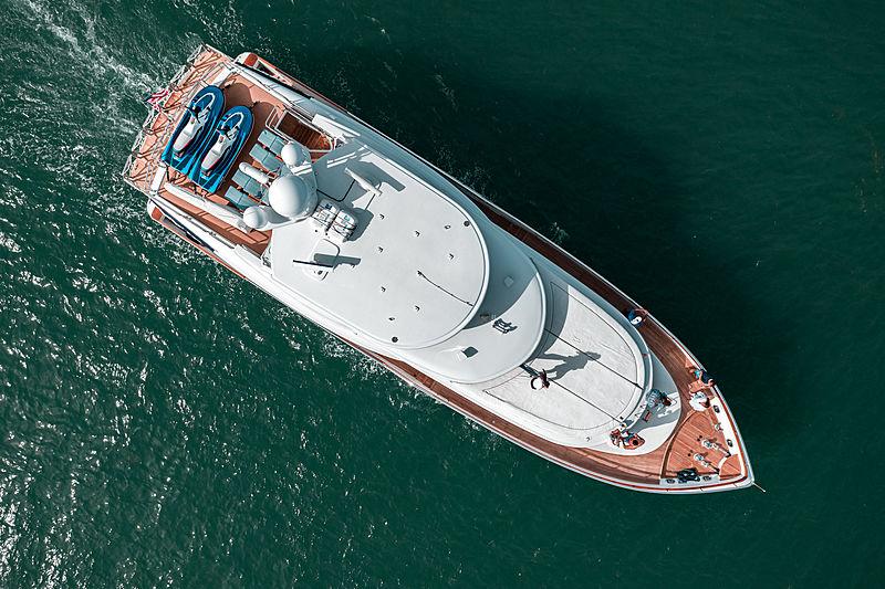 Illusion yacht aerial