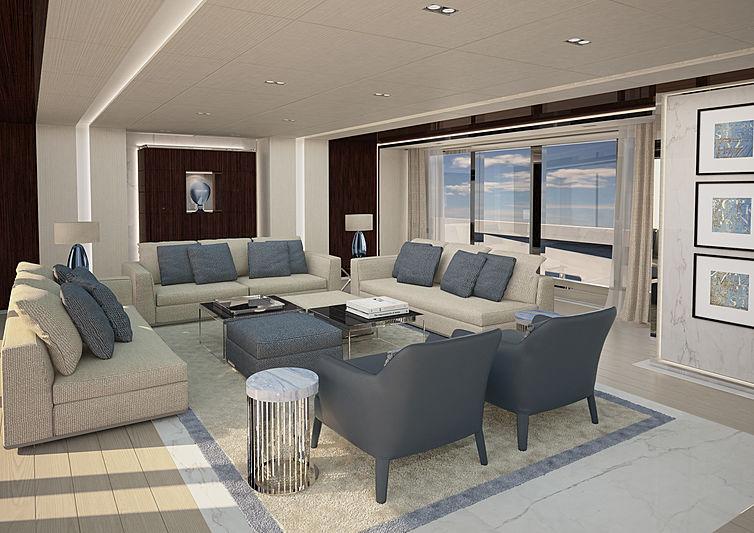 ISA Yachts GT 67 yacht interior rendering