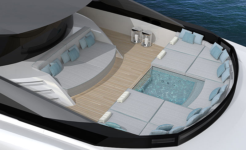 ISA Yachts GT 67 yacht exterior rendering
