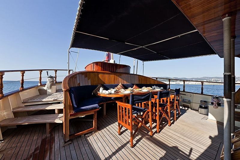 Tigerlily of Conrwall yacht deck