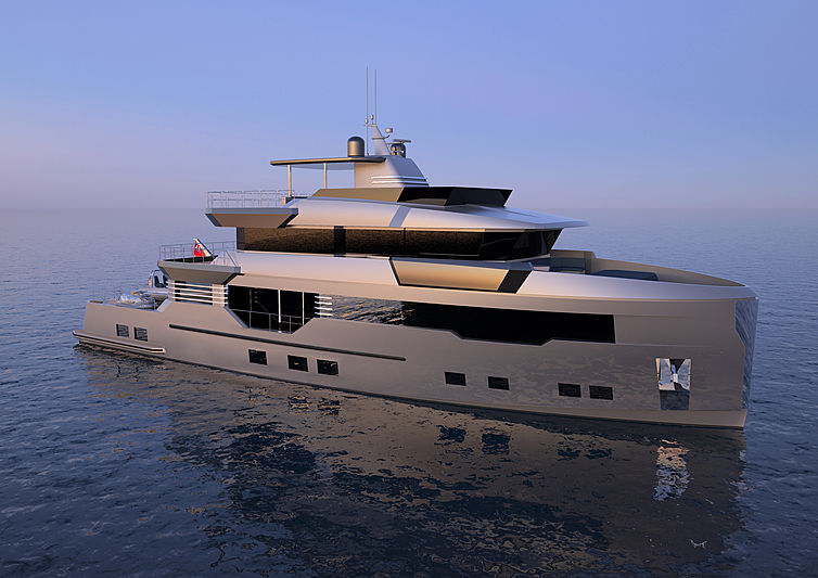 Reale Pacifico 32/01 yacht exterior rendering