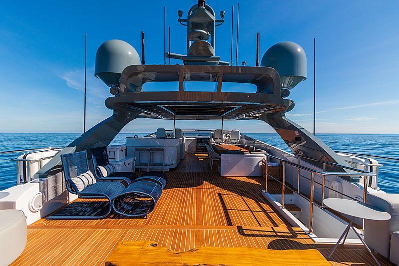 Double E yacht sundeck