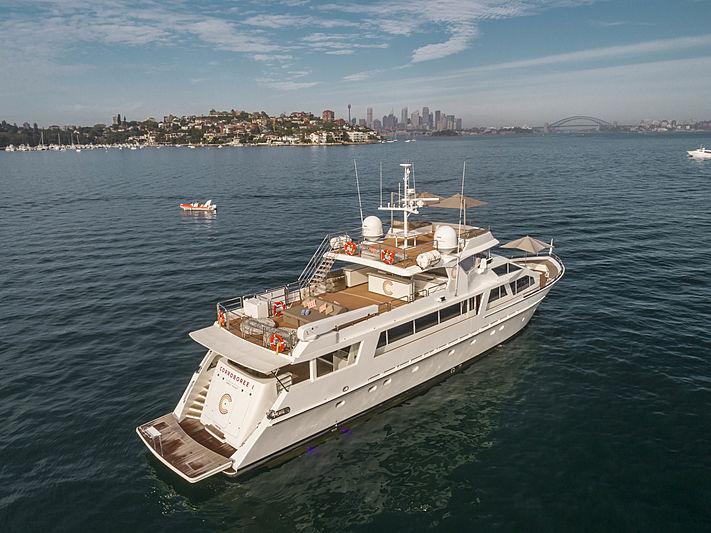 Corroboree I yacht aerial