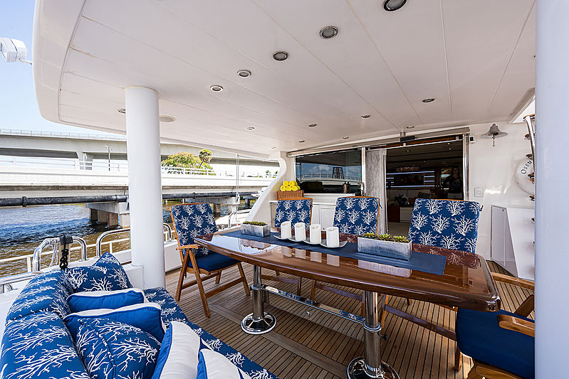 Ossum Dream yacht aft deck
