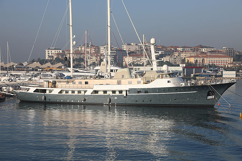 Voyager yacht in the Pendik Marina