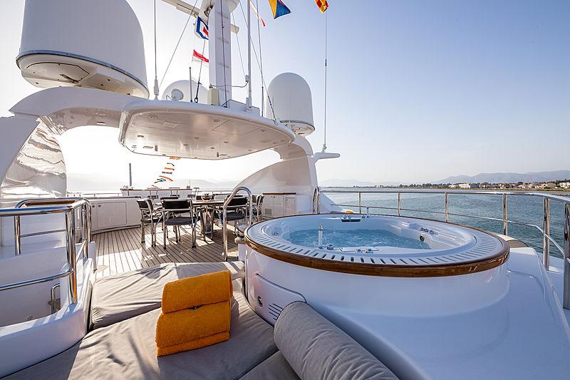 Magenta M yacht sundeck