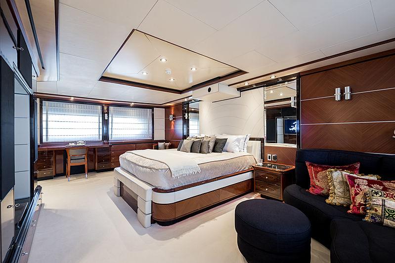 Magenta M yacht master's cabin