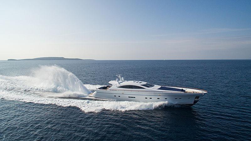 Kambos Blue yacht running