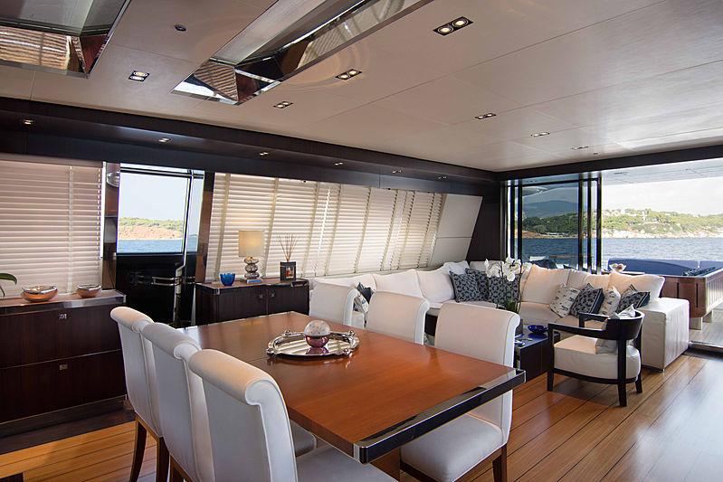 Kambos Blue yacht dining