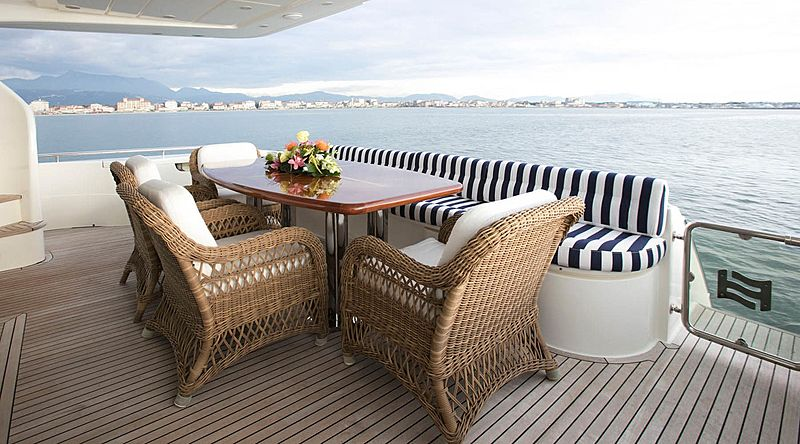 Lady Victoria yacht aft deck