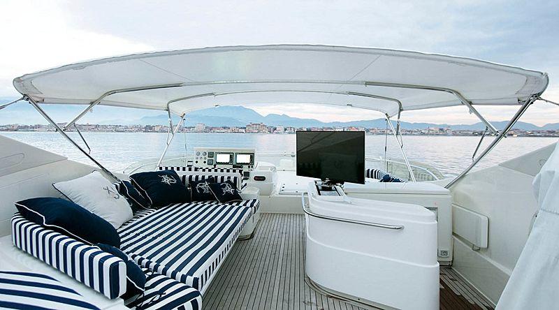 Lady Victoria yacht sundeck