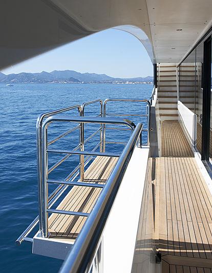 Imperial Princess Beatrice yacht balcony