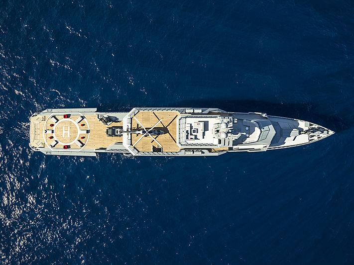 Bold yacht at anchor