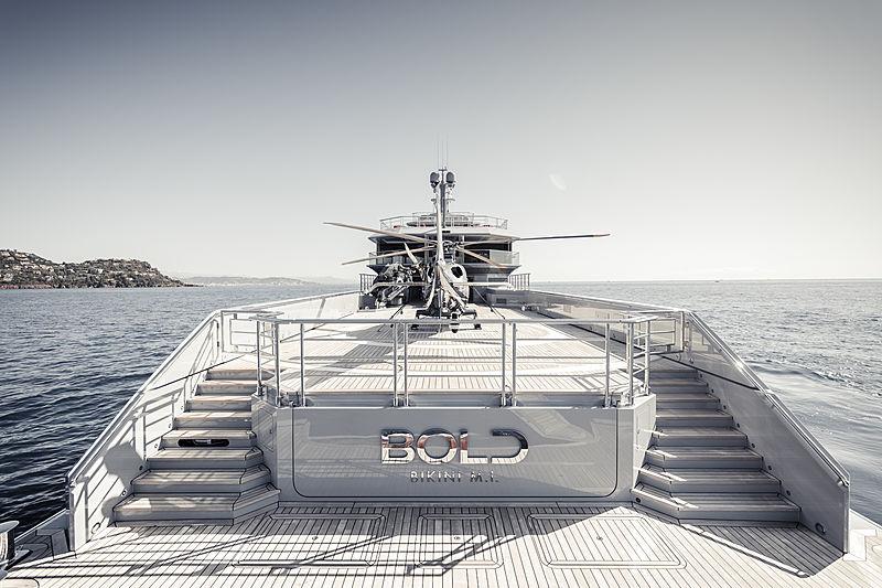 Bold yacht aft deck