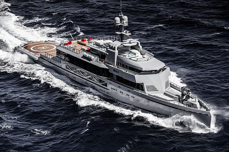 Bold yacht cruising
