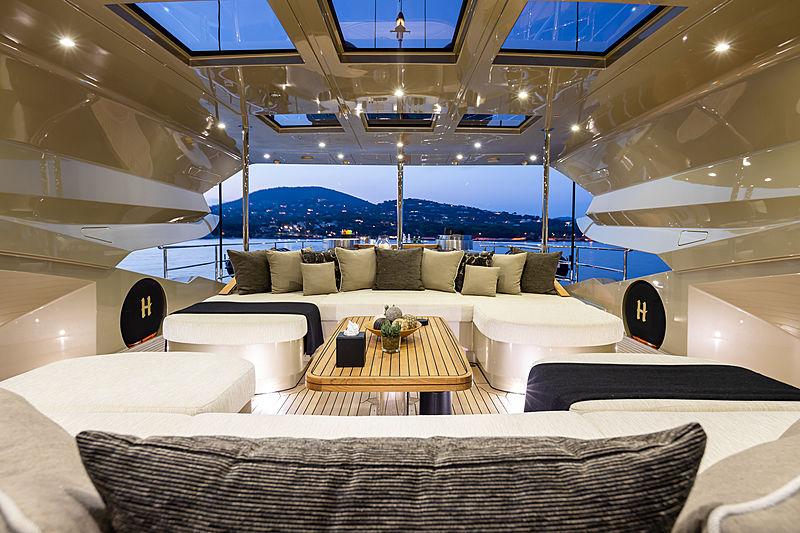 Hokulani yacht top deck