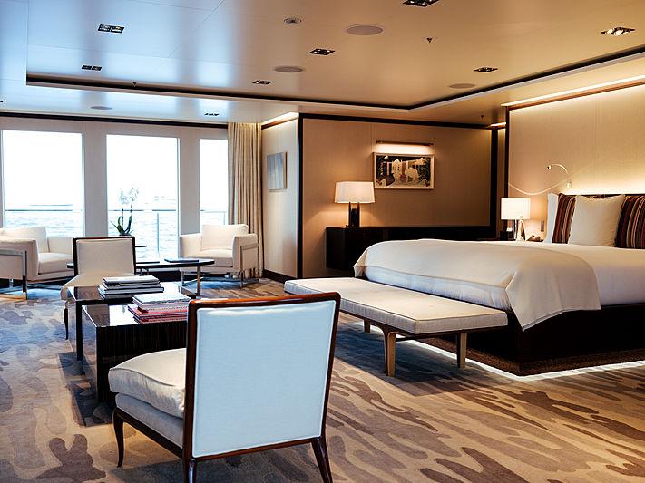 Planet Nine yacht stateroom
