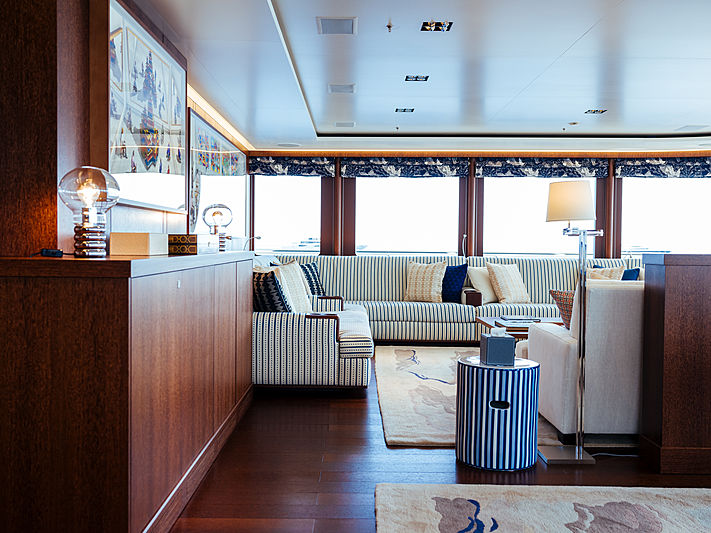 Planet Nine yacht saloon