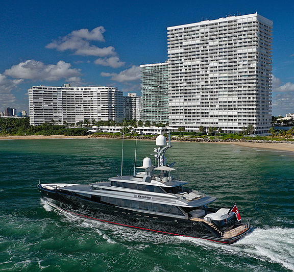 Kiss yacht arriving in Fort Lauderdale