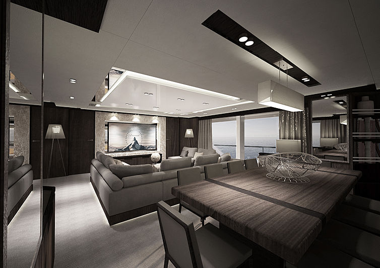 Reale Pacifico 32 main saloon rendering