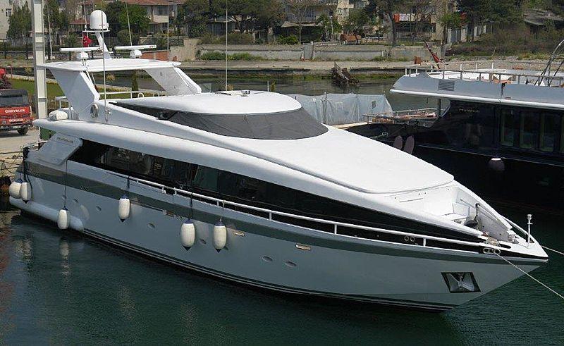 Moontazzam II yacht in marina