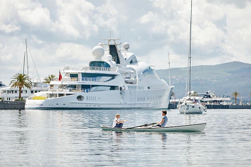 Yas yacht in Porto Montenegro