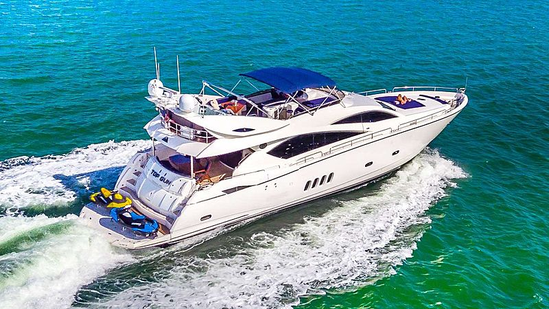 Top Gun yacht cruising