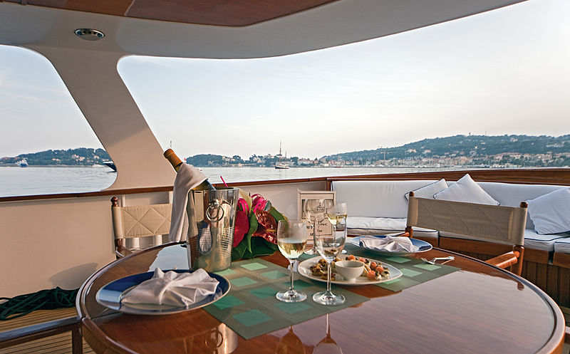 Hera C yacht aft deck