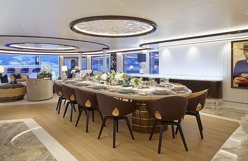 Excellence yacht main deck dining