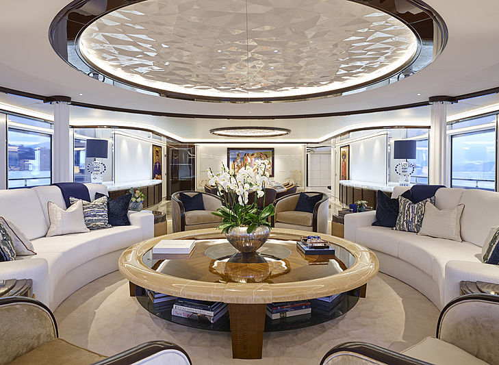 Excellence yacht main deck saloon