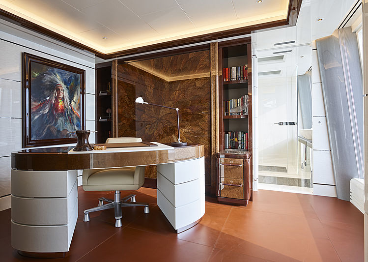 Excellence yacht owner's study
