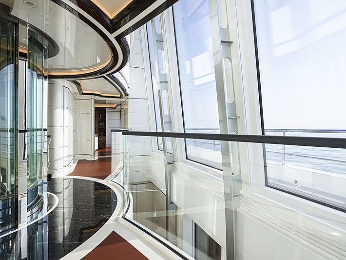 Excellence yacht hall & staircase